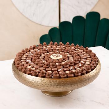 Golden Round Tray
