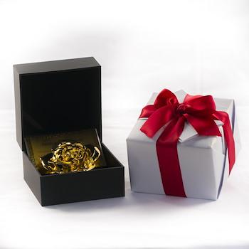 Gold Plated Rose Stem