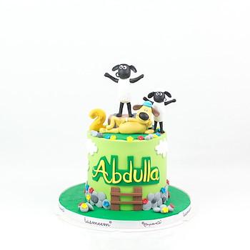 Sheep Character Cake