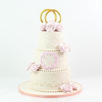 Three-Tiered Wedding Cake l