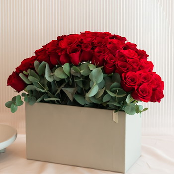 Red Roses Leather Box