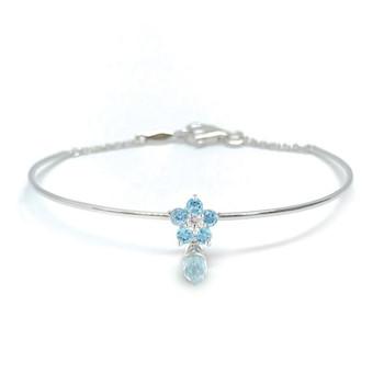 Gemstone Diamond Bangle