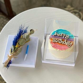 Micro Rainbow Cake