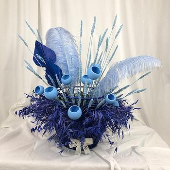 Blue Dried Basket