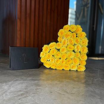 Yellow Heart Roses