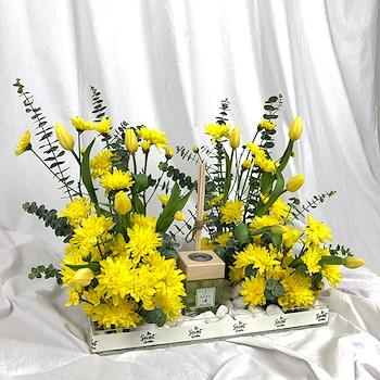 Yellow Bloom Tray