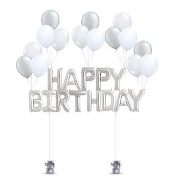 Happy Birthday Bouquet (Silver)