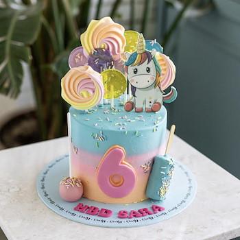 Unicorn Lollipops Cake