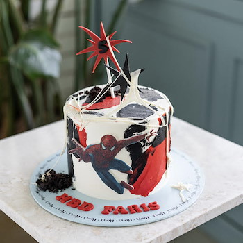 Spiderman Web Cake