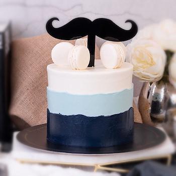 Mustache Cake 1