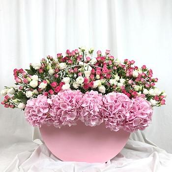 Pink Garden Vase