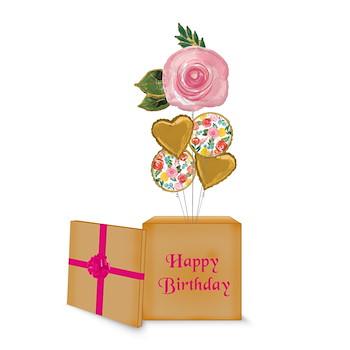 Rose Birthday Balloon