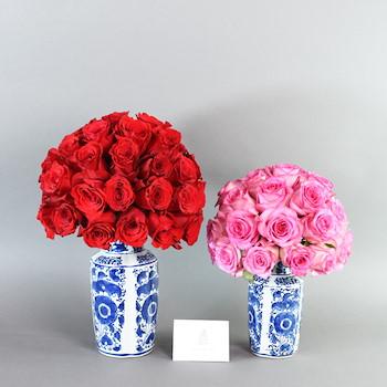 Double Blue Vase