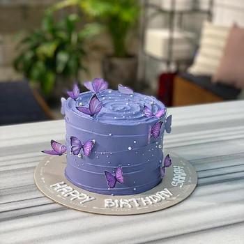 Purple Butterflies Cake 2