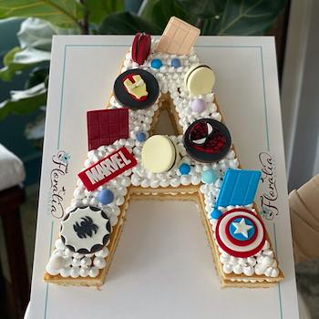 Marvel Letter Cake
