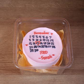 Pink Calendar Cake