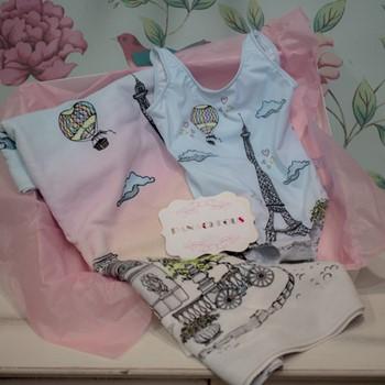 Paris Swimsuit & Towel