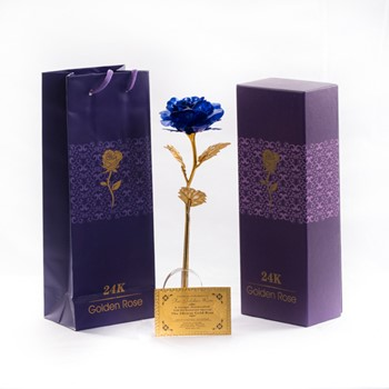 Blue Gold Plated Rose