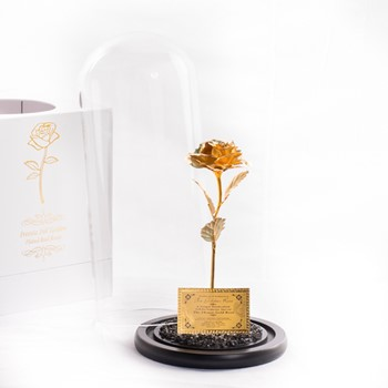 Gold Foiled Artificial Rose