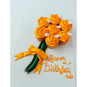 Cupcake Flower Bouquet (Orange)
