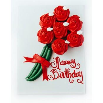 Cupcake Flower Bouquet (Red)