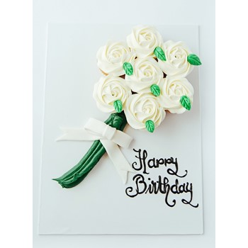 Cupcake Flower Bouquet (White)