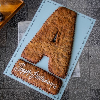 Letter Cookie Cake