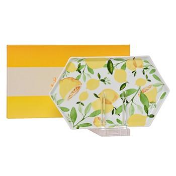 Lemon Hexagon Tray
