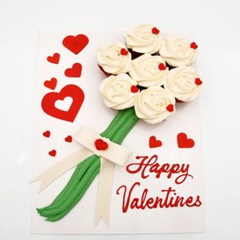 Love Flower Bouquet Cupcakes