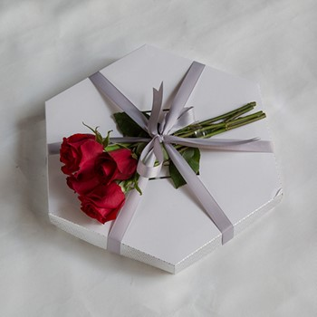 Chocolate Box With Red Roses