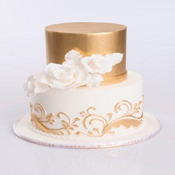 Gold Flower Cake