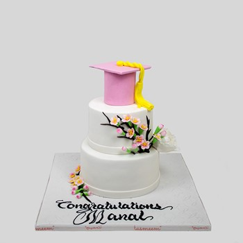 Two Layer Graduation Cake