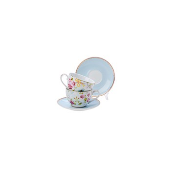 Chinese Rose Cup & Saucer