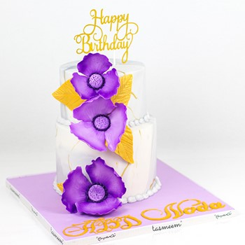 Purple Theme Cake