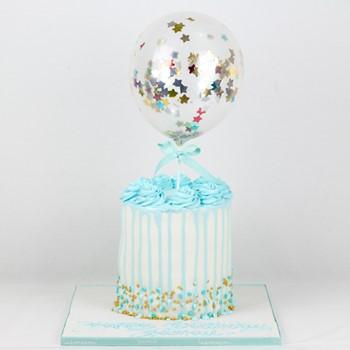 Stripes Blue Cake