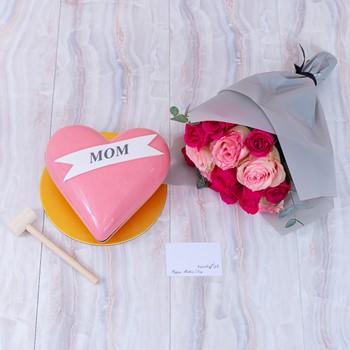 Pink Heart Bouquet I