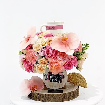 Pink Candle Bouquet