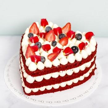 Velvet Heart Cake
